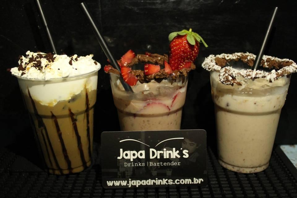 Nossos drinks com nutella