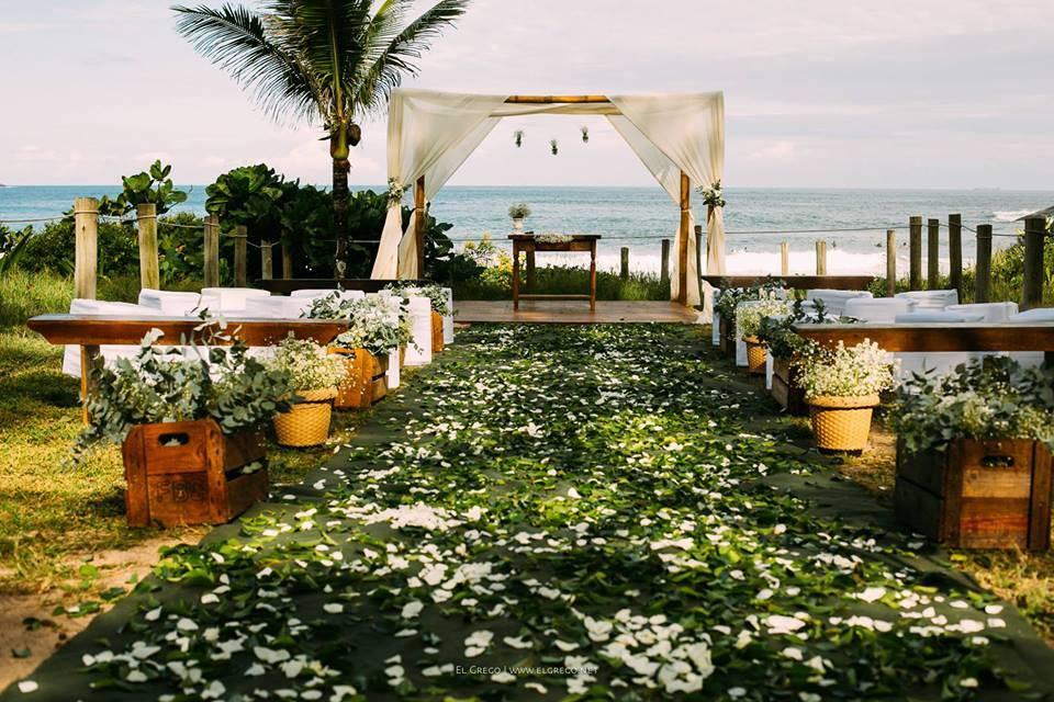 Os lindos casamentos na praia