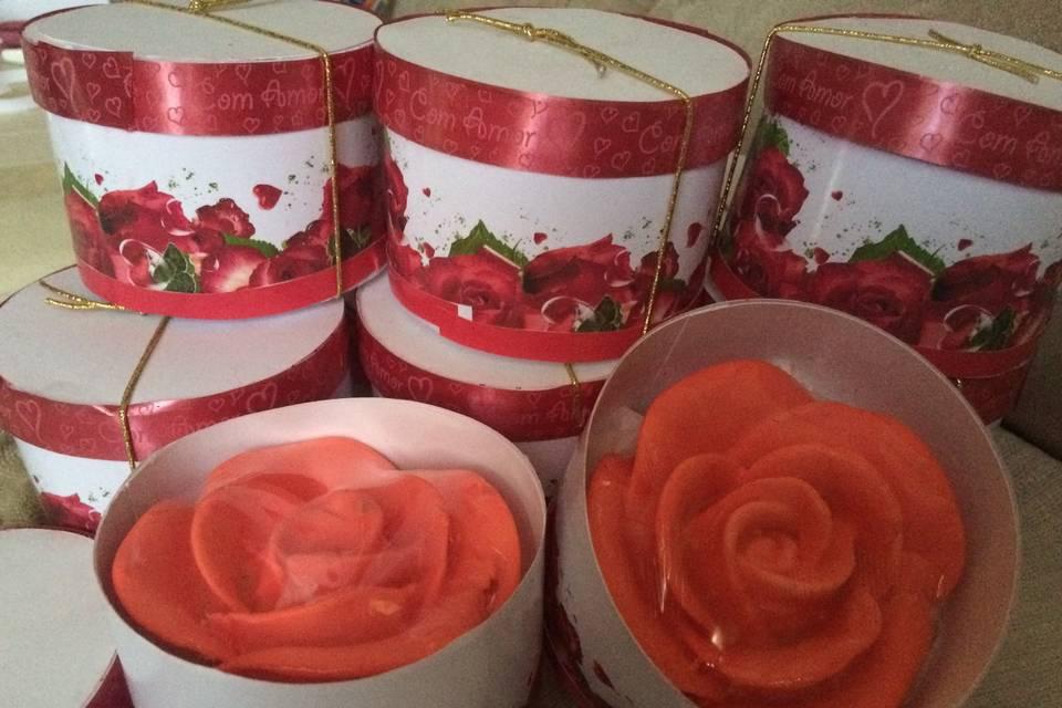 Lembrancinha sabonete rosa